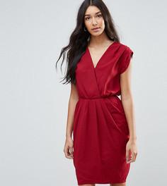 Драпированное платье с запахом спереди Y.A.S Tall Amber - Красный