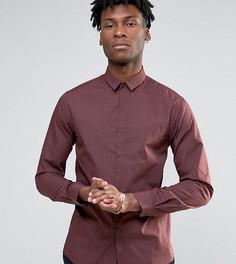 Меланжевая облегающая рубашка Noak - Коричневый