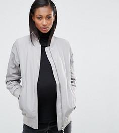 Бомбер для беременных ASOS Maternity - Серый