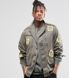 Куртка с нашивками‑тиграми Reclaimed Vintage - Зеленый