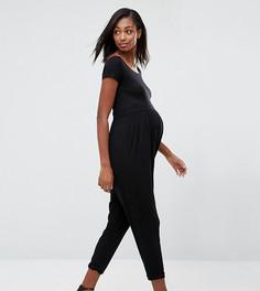 Трикотажный комбинезон для беременных ASOS Maternity - Черный