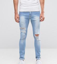 Рваные облегающие джинсы Brooklyn Supply Co - Синий