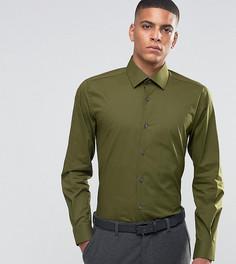 Зауженная рубашка в строгом стиле Number Eight Savile Row - Зеленый
