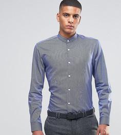 Рубашка скинни в полоску Number Eight Savile Row - Темно-синий