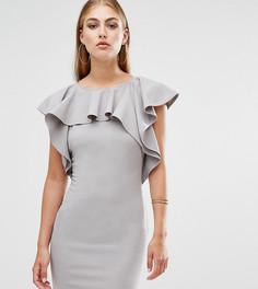 Платье мини с оборкой Missguided - Серый