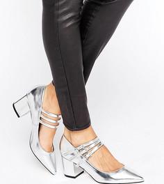 Туфли на каблуке с острым носком ASOS SABINE - Серебряный