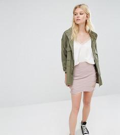 Бандажная юбка-премиум длиной мини Missguided Petite - Фиолетовый