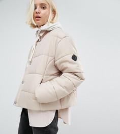 Дутая оversize-куртка без воротника Puffa - Бежевый