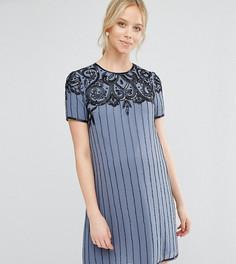 Платье мини для беременных с отделкой ASOS Maternity - Синий
