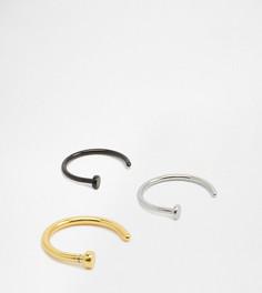 Набор из 3 колец для носа Designb - Серебряный