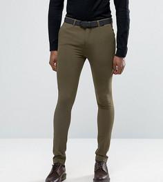 Супероблегающие брюки Rogues of London - Зеленый