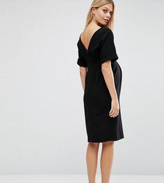 Тканое платье с V-образным вырезом сзади ASOS Maternity - Черный