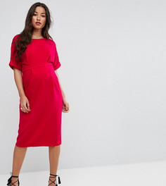 Тканое платье с V-образным вырезом сзади ASOS Maternity - Розовый