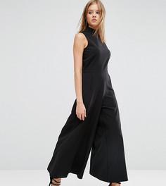 Комбинезон с юбкой-брюками и высокой горловиной ASOS TALL - Черный