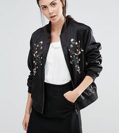 Бомбер с цветочной вышивкой Fashion Union Tall - Черный