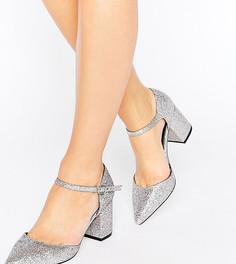 Туфли на каблуке для широкой стопы с блестками ASOS SORAYA - Мульти