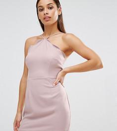 Облегающее платье с фигурной отделкой по краю Missguided Petite - Фиолетовый