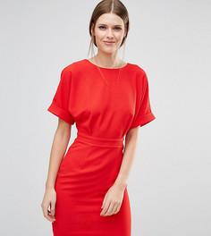 Тканое платье мини с V-образным вырезом сзади ASOS TALL - Красный