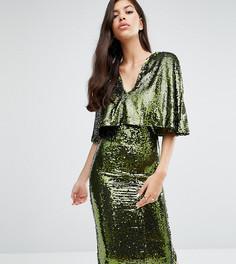Платье миди с пайетками Club L - Зеленый