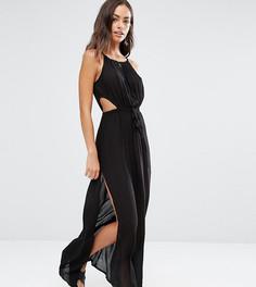 Пляжное платье макси с вырезом капелькой Akasa - Черный