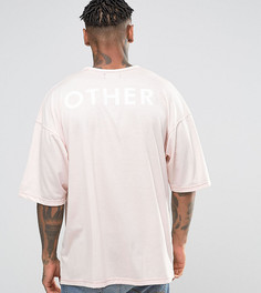 Oversize-футболка с принтом на спине Other UK - Розовый