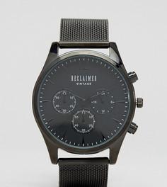 Черные часы с сетчатым ремешком и хронографом Reclaimed Vintage Inspired эксклюзивно для ASOS - Черный