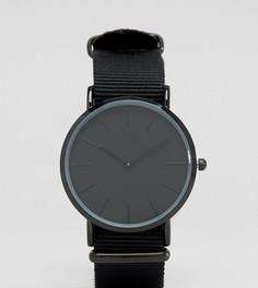 Часы с черным парусиновым ремешком Reclaimed Vintage Inspired эксклюзивно для ASOS - Черный