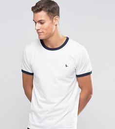 Белая футболка классического кроя Jack Wills Ringer - Белый