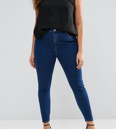 Синие джинсы скинни с завышенной талией ASOS CURVE RIDLEY - Синий