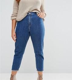 Синие джинсы слим в винтажном стиле ASOS CURVE Farleigh - Синий