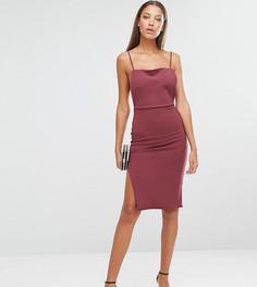 Платье миди на бретельках с открытой спиной Missguided Tall - Красный