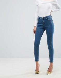 Синие джинсы скинни ASOS RIDLEY Lanie London - Синий
