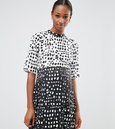 Свободное платье с леопардовым принтом ASOS Maternity - Мульти