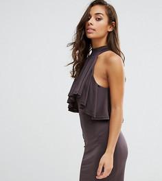 Облегающее платье мини с оборкой NaaNaa Petite - Серый