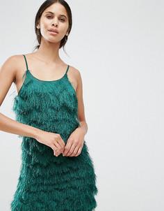 Платье мини на тонких бретельках True Decadence Tall - Зеленый