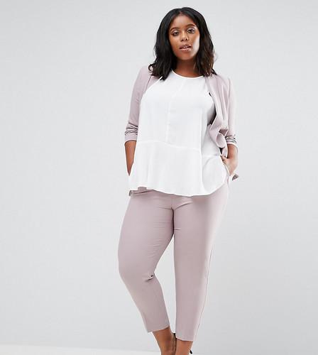 Укороченные креповые брюки-сигареты ASOS CURVE - Розовый