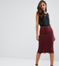 Кружевная юбка-карандаш ASOS TALL - Красный