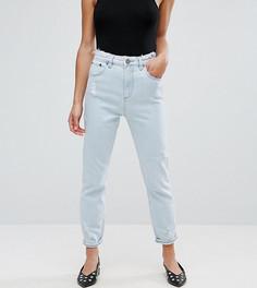 Узкие выбеленные джинсы в винтажном стиле с необработанными краями ASOS PETITE FARLEIGH - Синий