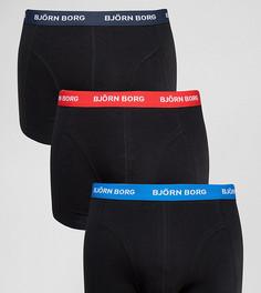 Набор из 3 белых боксеров-брифов с контрастным поясом Bjorn Borg - Черный