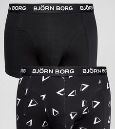 Набор из 2 пар боксеров-брифов с треугольниками Bjorn Borg - Черный
