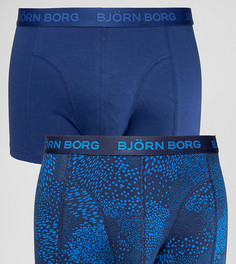 Боксеры-брифы со звериным принтом (2 шт.) Bjorn Borg - Темно-синий