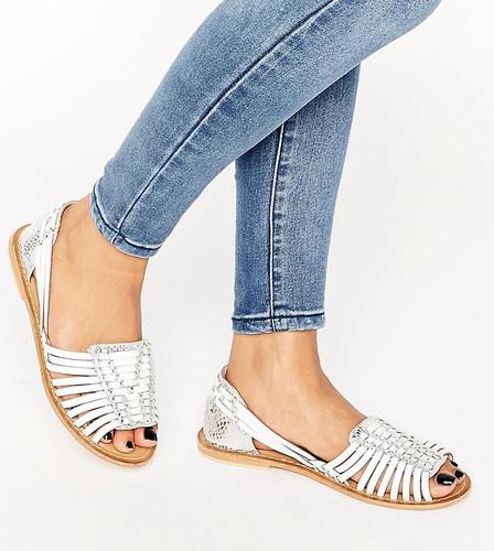 Плетеные кожаные туфли для широкой стопы ASOS JOEL - Мульти