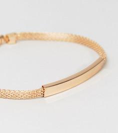Идентификационный браслет-цепочка золотистого цвета DesignB эксклюзивно для ASOS - Золотой