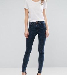 Мраморные зауженные джинсы ASOS TALL Ridley - Синий