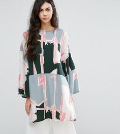 Платье-туника в стиле oversize с графическим принтом Waven Tall - Мульти
