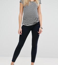 Черно-синие джинсы скинни с посадкой под животом ASOS Maternity Ridley - Синий