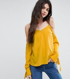Топ с открытыми плечами и завязками на манжетах ASOS TALL - Желтый