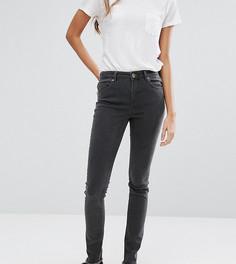 Серые джинсы с классической талией и молниями у кромки сзади ASOS TALL Lisbon - Серый