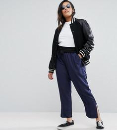 Тканые брюки в спортивном стиле ASOS CURVE - Темно-синий