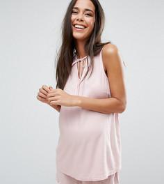 Пижамный комплект с шортами для беременных ASOS Maternity - Розовый